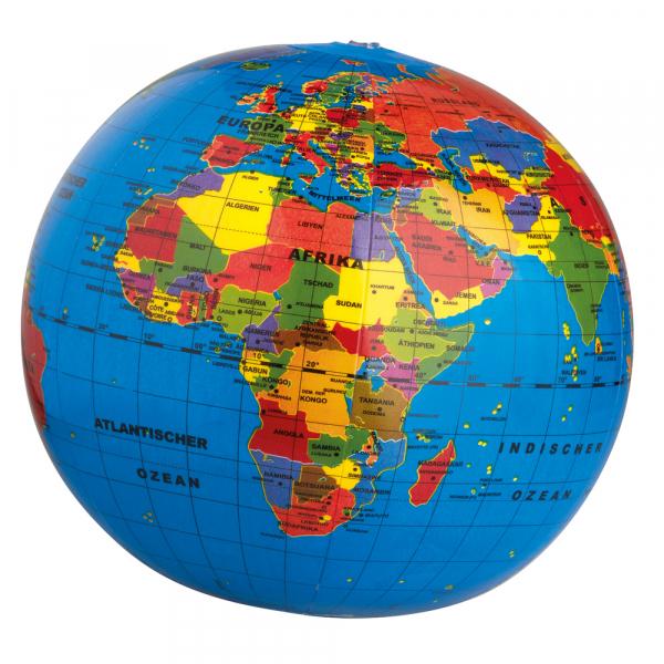 Aufblasbarer Globus Die Welt Ø 30cm
