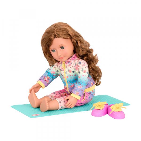 OG - Puppe Lucy Grace Yogalehrerin mit Sportmatte 46cm