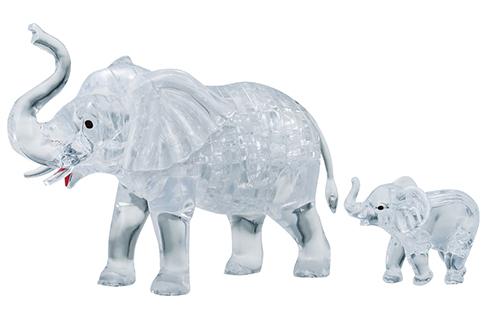 Crystal Puzzle - Elefantenpaar