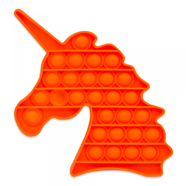 Bubble Fidget - Einhorn neon orange