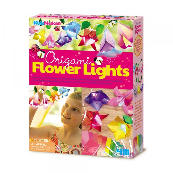Origami Blumen Lichterkette - KidzMaker