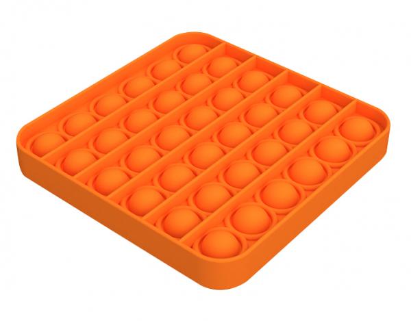 Bubble Fidget - Quadrat orange