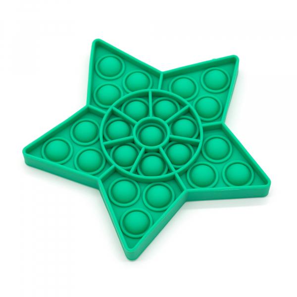 Bubble Fidget - Stern grün