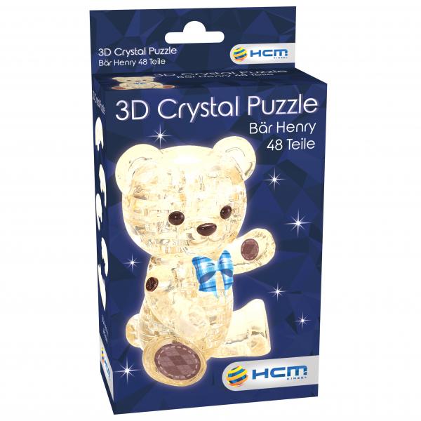 Crystal Puzzle - Bär Henry Hellbraun