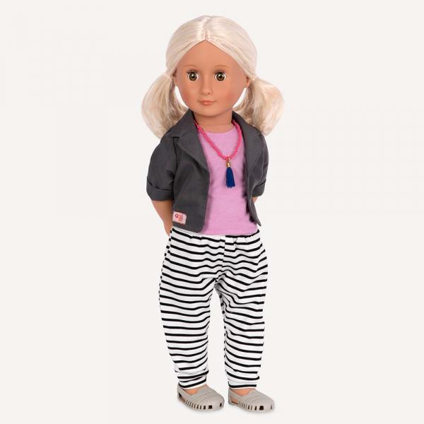 OG - Puppe Jesse mit gestreifter Hose