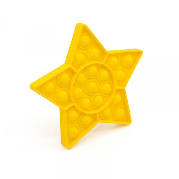 Bubble Fidget - Stern gelb