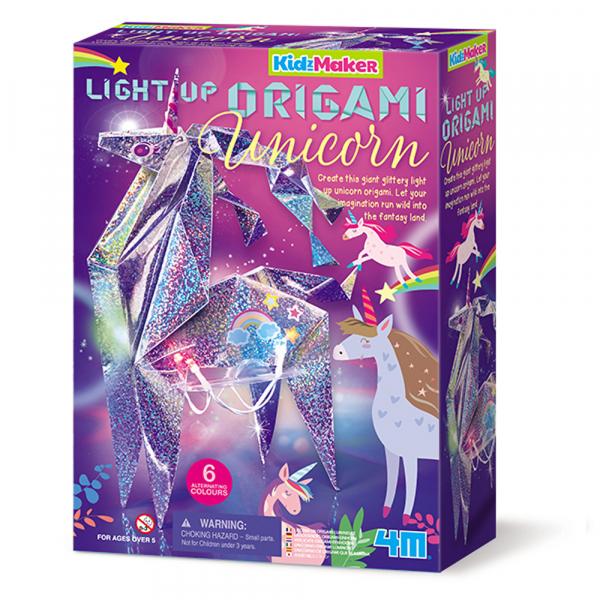 Leuchtendes Origami Einhorn - KidzMaker