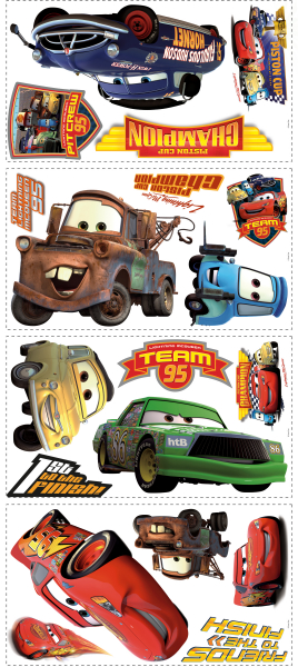 CARS - PISTON CUP CHAMPS PEEL & STICK WALL DECAL