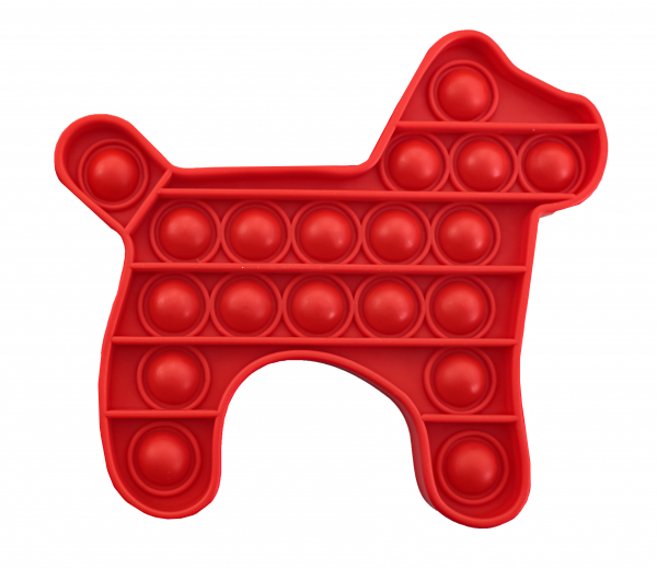 Bubble Fidget - Hund rot