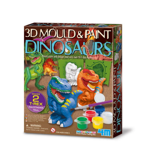 3D Mould & Paint / Dinosaurs
