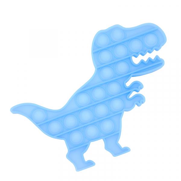 Bubble Fidget - Dinosaurier Glow-In-The-Dark blau