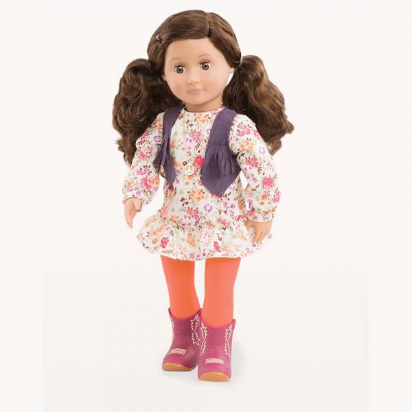 OG - Puppe Jackie Retro-Flower-Power-Girl 46cm