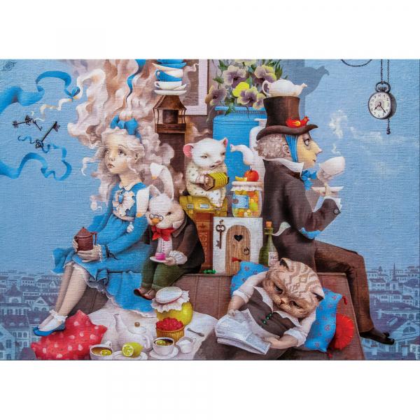 DaVICI Puzzle - Alice' verrückte Teeparty