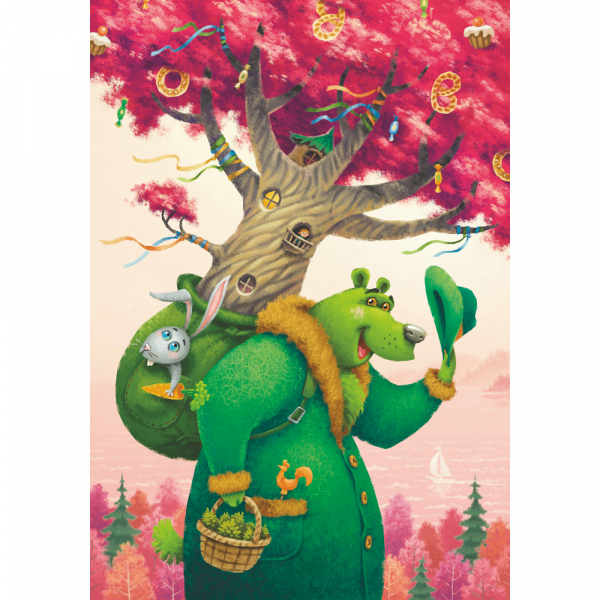 DaVICI Puzzle - Der grüne Bär