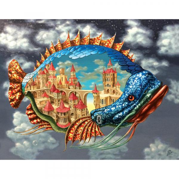 DaVICI Puzzle - Der Stadtfisch - MAXI