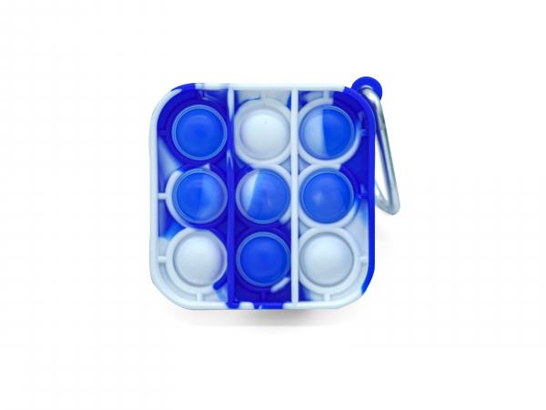 Bubble Fidget Mini - Quadrat marble blau-weiß