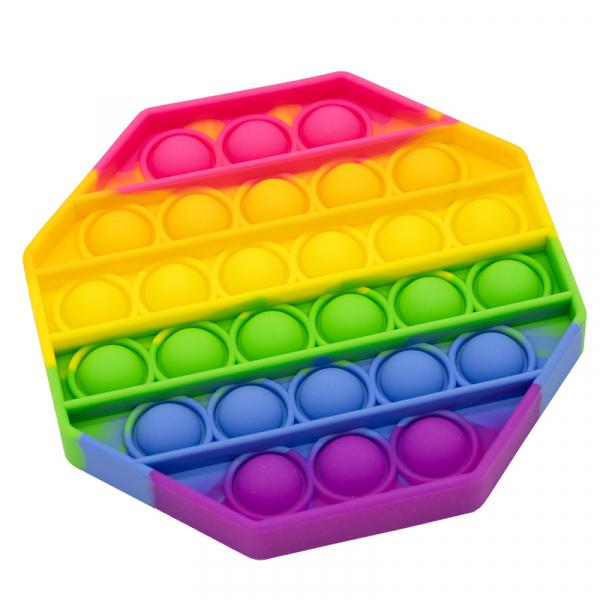 Bubble Fidget - Octagon rainbow