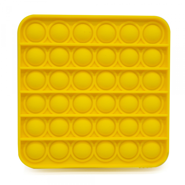 Bubble Fidget - Quadrat gelb