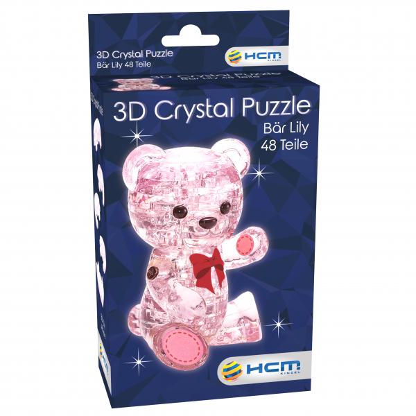 Crystal Puzzle - Bär Lily Rosa