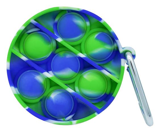 Bubble Fidget Mini - Rund marble blau-weiß-grün
