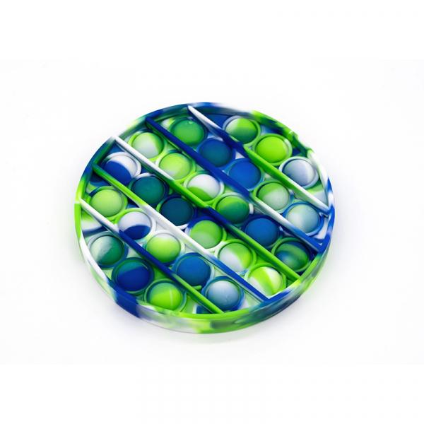 Bubble Fidget - Rund blau-weiß-grün