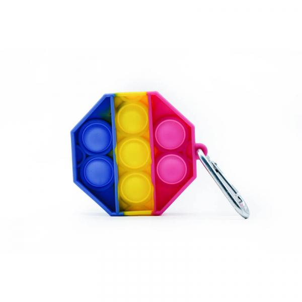 Bubble Fidget Mini - Octagon gelb-blau-pink