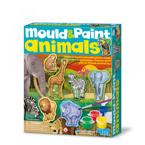 Wild Life Tiere Gips- und Malset - Mould&Paint