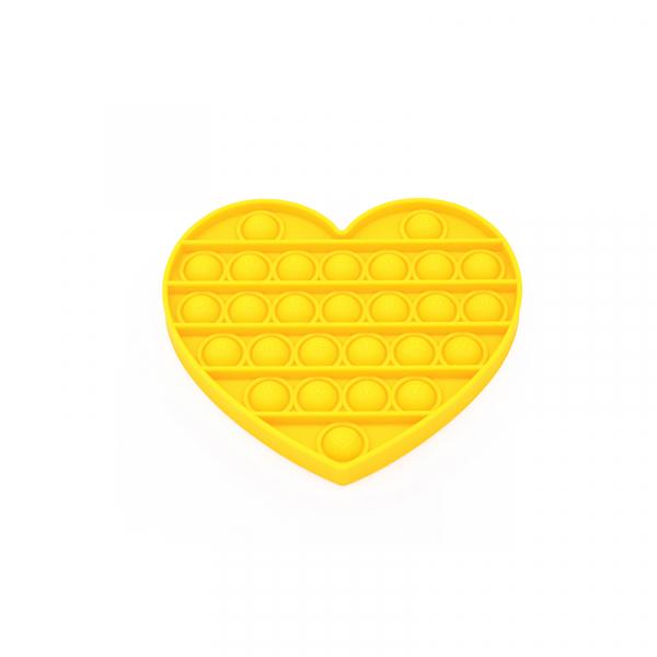 Bubble Fidget - Herz gelb