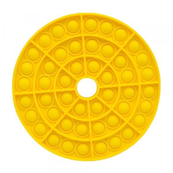 Bubble Fidget - Rund mit Loch gelb
