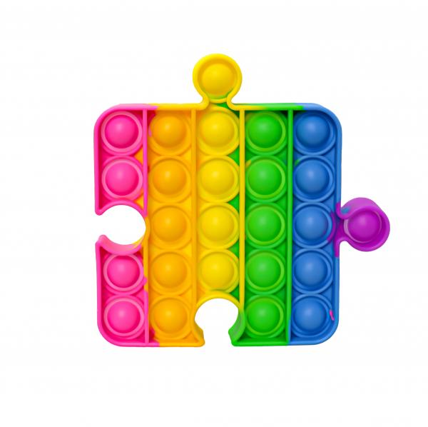 Bubble Fidget - Puzzleteil rainbow
