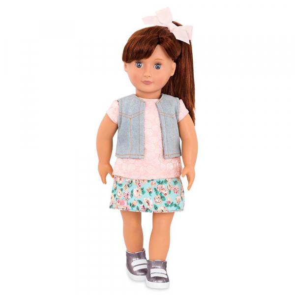 OG - Puppe Myriam mit Blumenprint-Rock