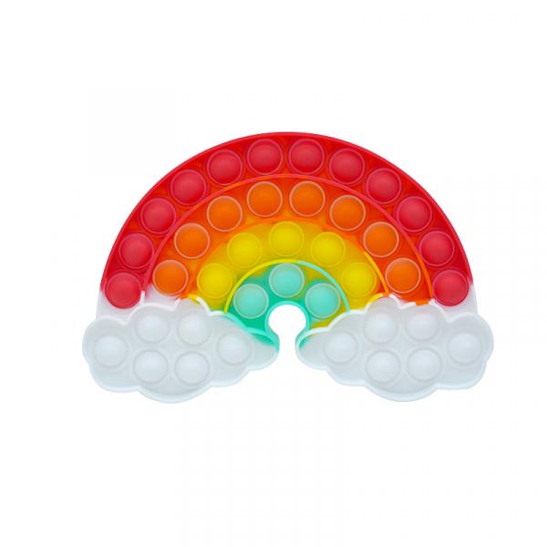 Bubble Fidget - Regenbogen mit Wolken