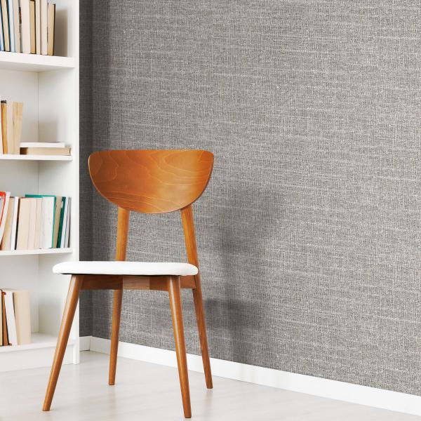 PEEL & STICK Wallpaper - Tweed Grau