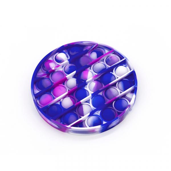 Bubble Fidget - Rund blau-weiß-purple
